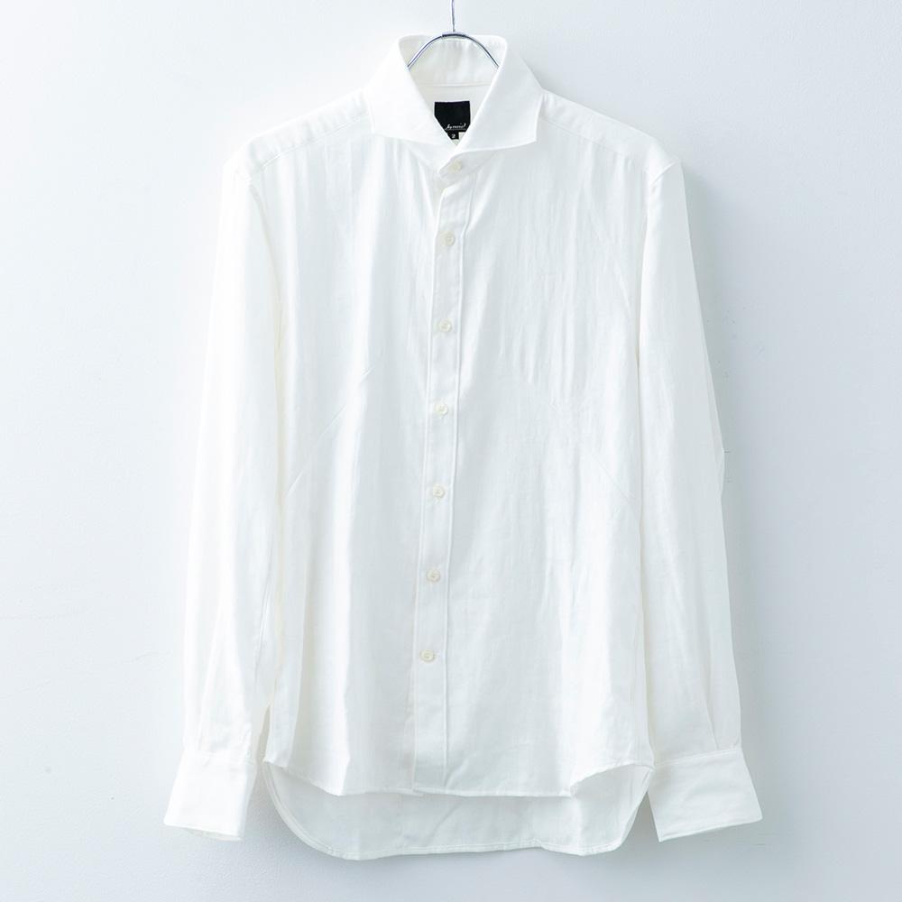 シャドー織カモ柄シャツ